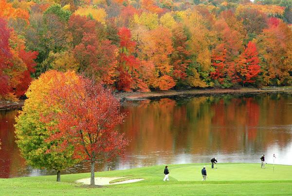 New England Autumn Photograph - Golf Autumn3 by Khine