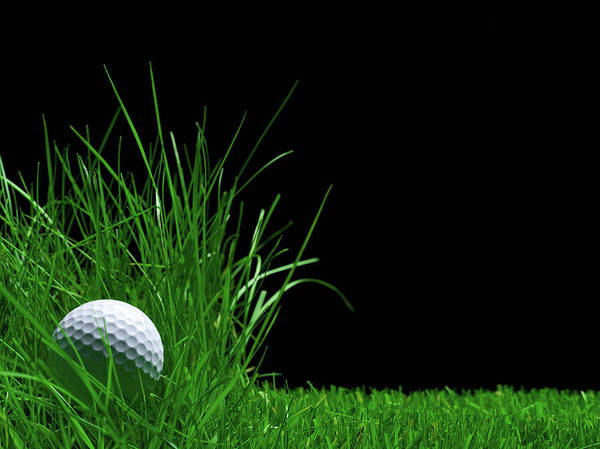 Photograph - Golf Ball Laying In The Rough Grass by Pier