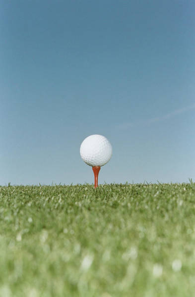 Tee Photograph - Golf Ball On Tee by Sean Justice