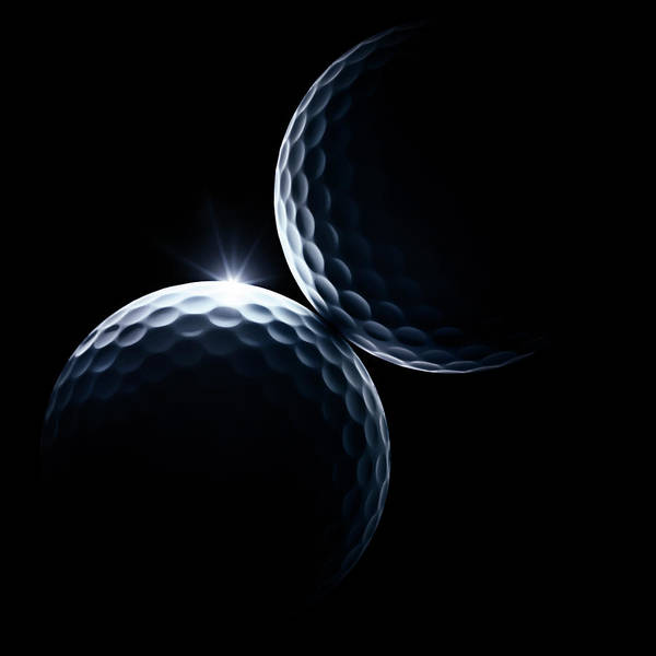 Photograph - Golf Balls Against Black by Makitalo, Per