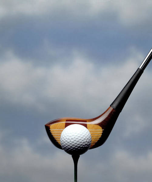 Ball Photograph - Golf Club And Ball W Blue Sky by Howard Sokol