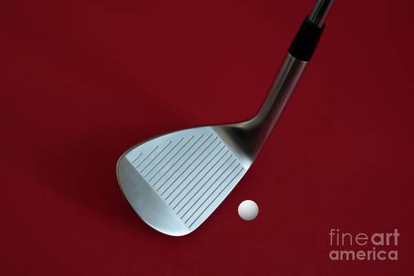 Photograph - Golf Club Wedge And Golf Ball by Mats Silvan