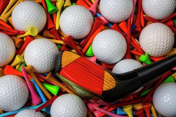 Wall Art - Photograph - Golf Club With Balls And Tees by Garry Gay