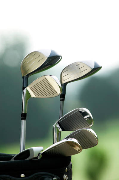 Golf Photograph - Golf Clubs In Bag At Golf Course by Photo And Co