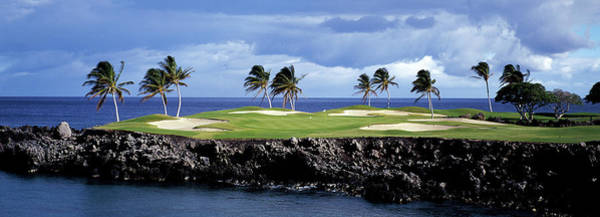 Wall Art - Photograph - Golf Course At The Seaside, Hawaii, Usa by Panoramic Images