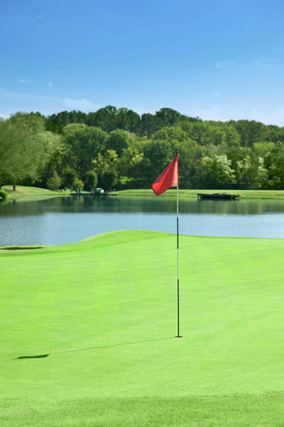 Golf Course Photograph - Golf Course Flag by Stratol
