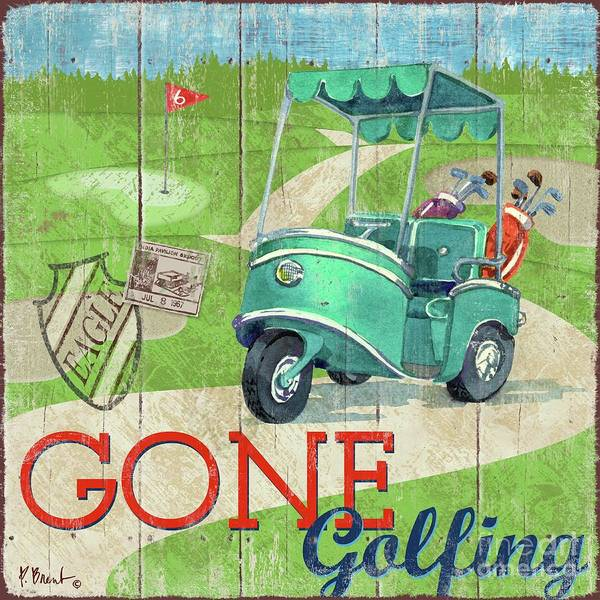Wall Art - Painting - Golf Time Iv by Paul Brent