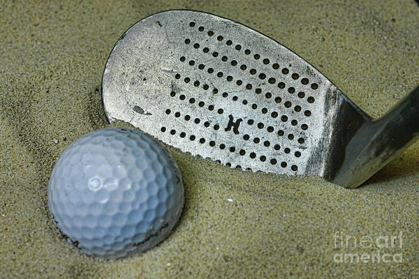 Wall Art - Photograph - Golf Trapped In The Sand by Paul Ward