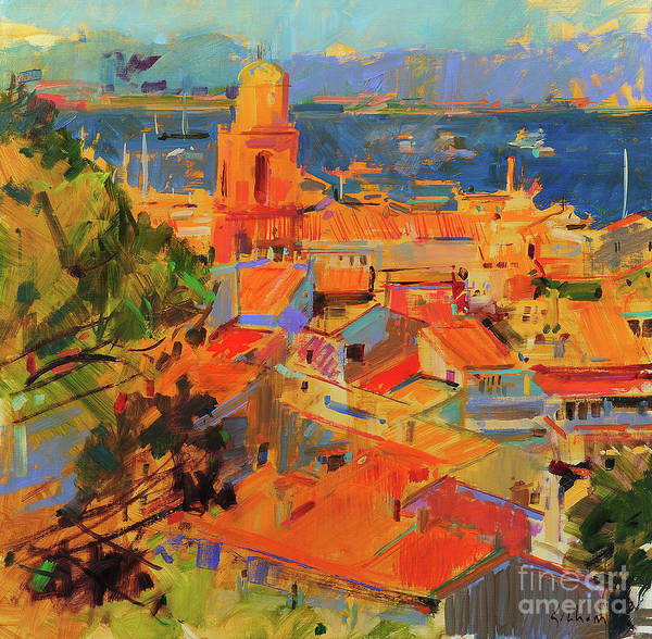 Wall Art - Painting - Golfe De Saint-tropez by Peter Graham