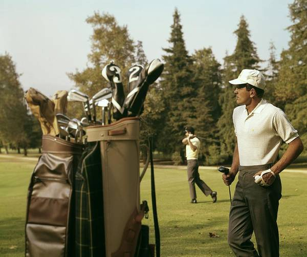 Photograph - Golfers On The Course by Tom Kelley Archive
