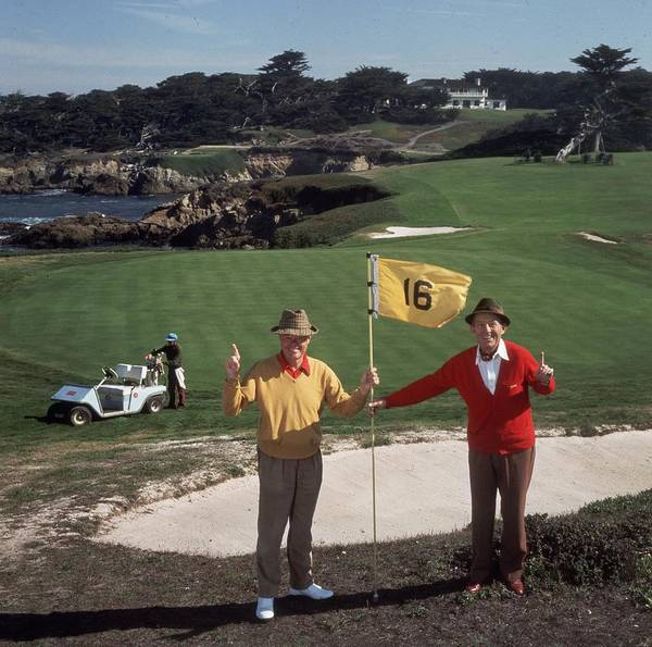 Square Photograph - Golfing Pals by Slim Aarons