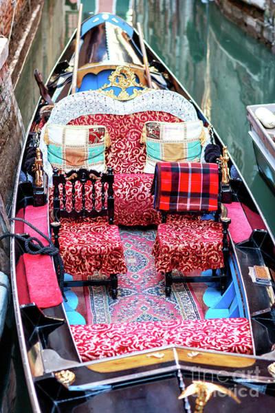 Photograph - Gondola Colors In Venezia by John Rizzuto