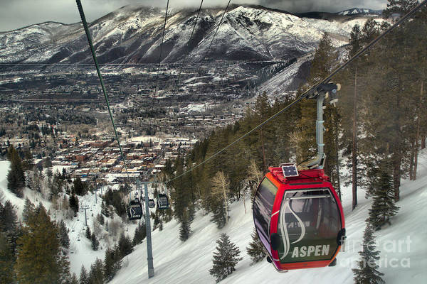 Photograph - Gondola Over Aspen by Adam Jewell
