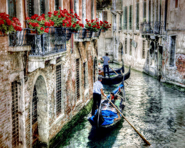 Digital Art - Gondola Ride by Pennie McCracken