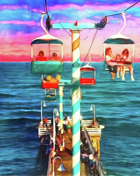Photograph - Gondola Skyride Over Pier by Alice Gipson