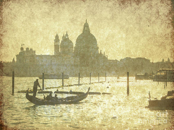 Gondolas Digital Art - Gondola Tour On The Lagoon In Venice by Patricia Hofmeester