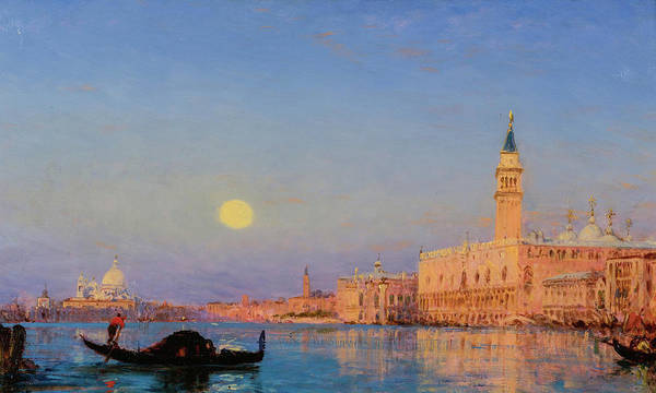 Wall Art - Painting - Gondola, Venice by Felix Ziem