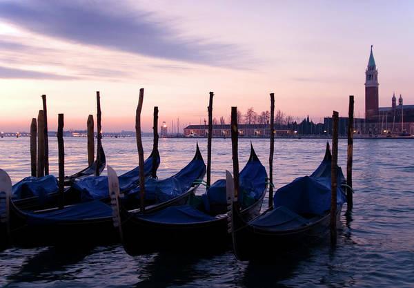 Dawn Photograph - Gondolas At Dawn by Petegar