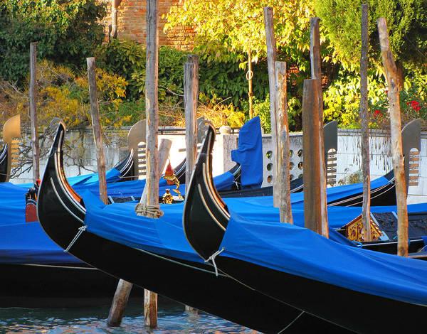 Resting Photograph - Gondolas At Rest by Sandra Leidholdt