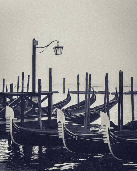 Gondolas At San Marco Art Print