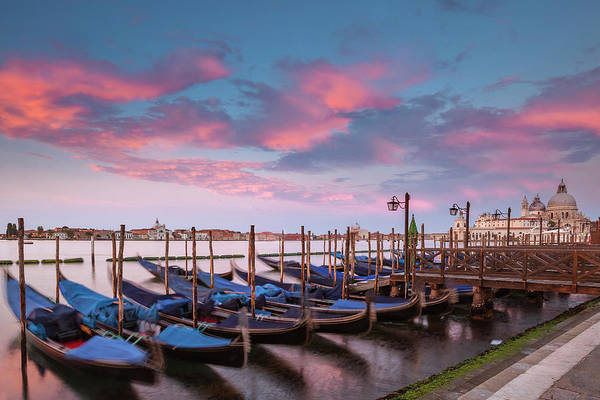 Wall Art - Photograph - Gondolas At Sunset by Andrew Soundarajan