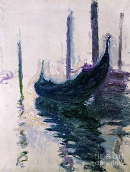 Painting - Gondolas In Venice, 1908 by Claude Monet