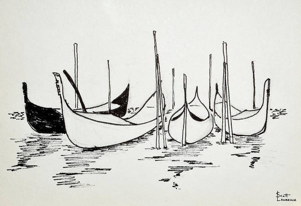 Wall Art - Photograph - Gondolas In Venice, Italy Are A Symbol by Richard Lawrence