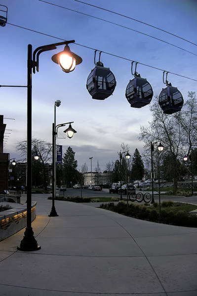 Wall Art - Photograph - Gondolas Over Post Street - Spokane by Daniel Hagerman