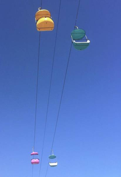 Photograph - Gondolas Santa Cruz Boardwalk  by Gia Marie Houck