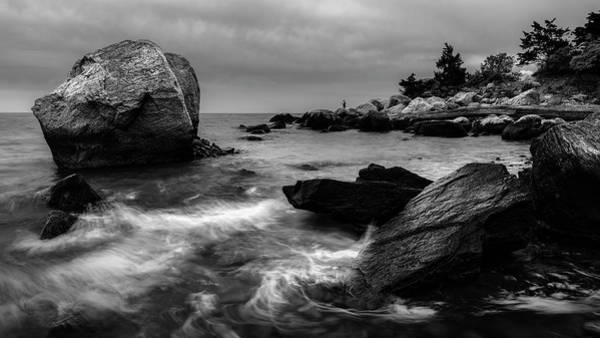 Photograph - Gone Fishing Bw by Simmie Reagor