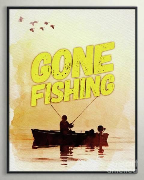 Fishermen Digital Art - Gone Fishing by Esoterica Art Agency