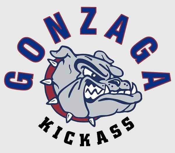 Spokane Digital Art - Gonzaga U Kicks Ass - T-shirt by Daniel Hagerman