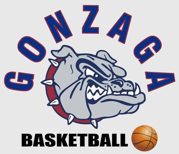 Spokane Digital Art - Gonzaga University Basketball - T-shirt by Daniel Hagerman