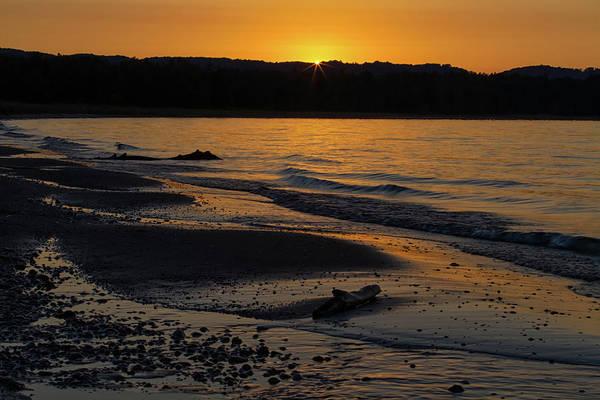 Photograph - Good Harbor Bay Sunset by Heather Kenward
