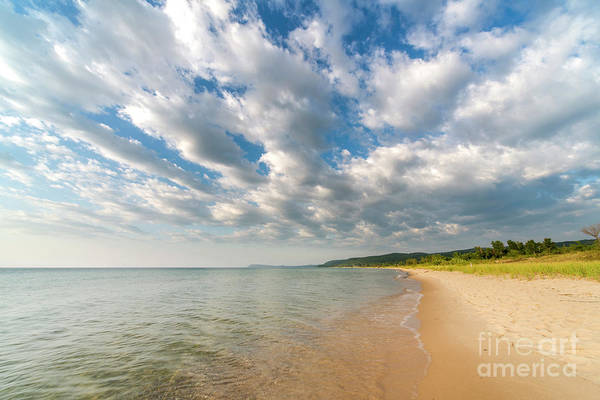Two Harbors Photograph - Good Harbor Beach Clouds by Twenty Two North Photography