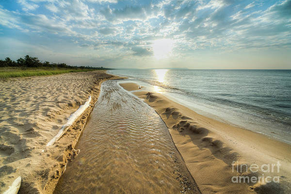 Two Harbors Photograph - Good Harbor Beach by Twenty Two North Photography