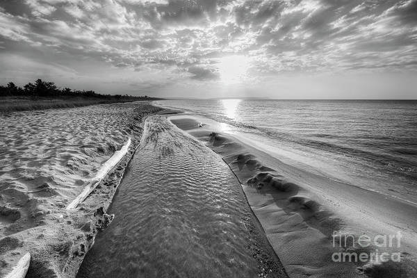 Two Harbors Photograph - Good Harbor Black And White Stream by Twenty Two North Photography