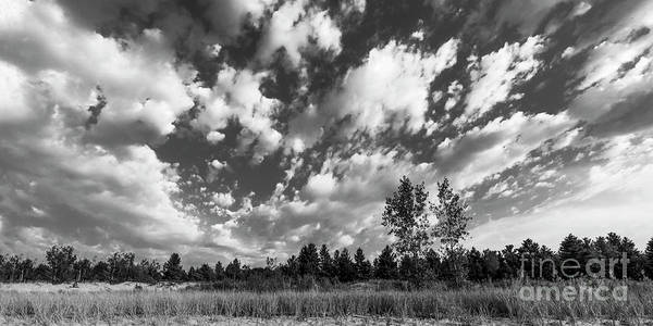 Two Harbors Photograph - Good Harbor Shoreline Black And White by Twenty Two North Photography