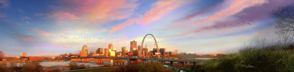 St Louis Arch Painting - Good Morning St. Louis by Rip Kastaris