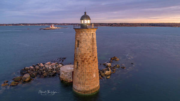Photograph - Good Morning Whaleback Lighthouse  by Michael Hughes