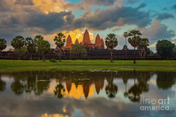 Photograph - Good Night Angkor Wat by Peng Shi
