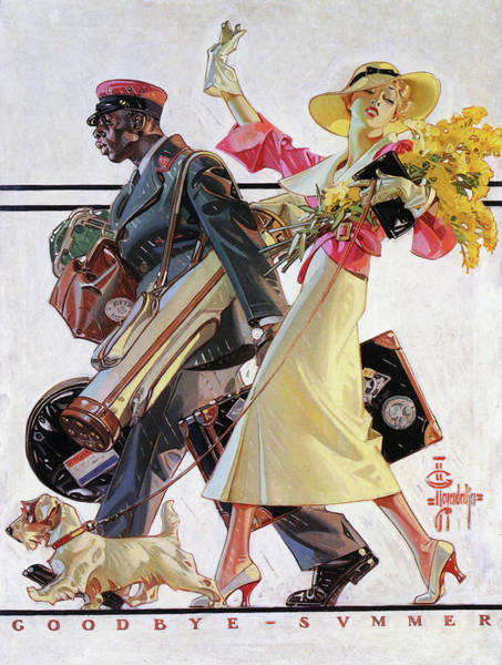 Wall Art - Painting - Goodbye Summer - Digital Remastered Edition by Joseph Christian Leyendecker