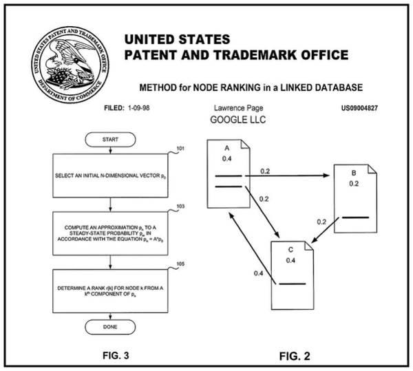 Wall Art - Digital Art - Google - Billion Dollar Patent 1998 by Daniel Hagerman
