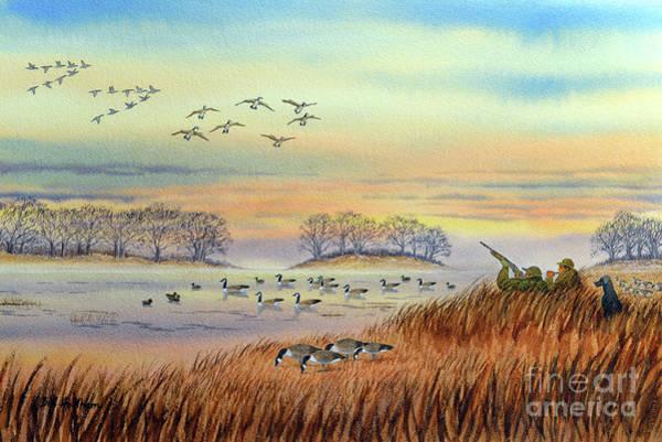 Wall Art - Painting - Goose Hunting Season by Bill Holkham