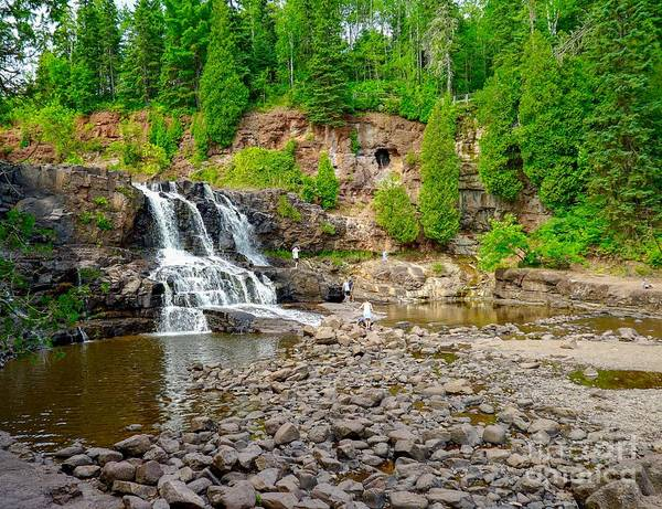Photograph - Gooseberry Falls In Northern Minnesota by Susan Rydberg