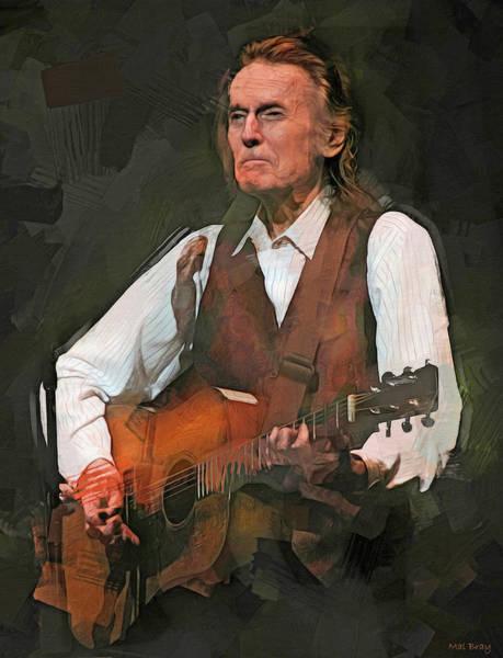 Folk Singer Mixed Media - Gordon Lightfoot by Mal Bray