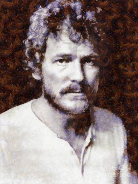 Wall Art - Painting - Gordon Lightfoot, Music Legend by Sarah Kirk