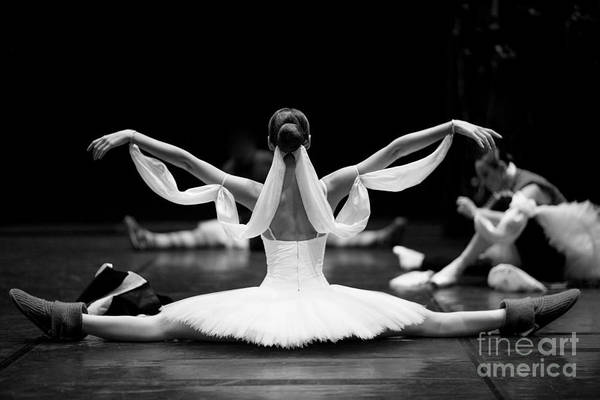 Wall Art - Photograph - Gorgeous Ballerina Repeating Movements by Anna Jurkovska