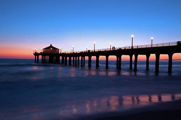 Vacation Time Photograph - Gorgeous Nightfall In Manhattan Beach by Ekash