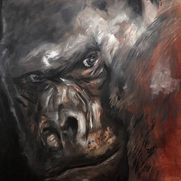 Wall Art - Painting - Gorilla Eyes by Dori Murakami